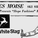 Advertisement for Les Moise skiwear from Milwaukee Journal in early 1960s