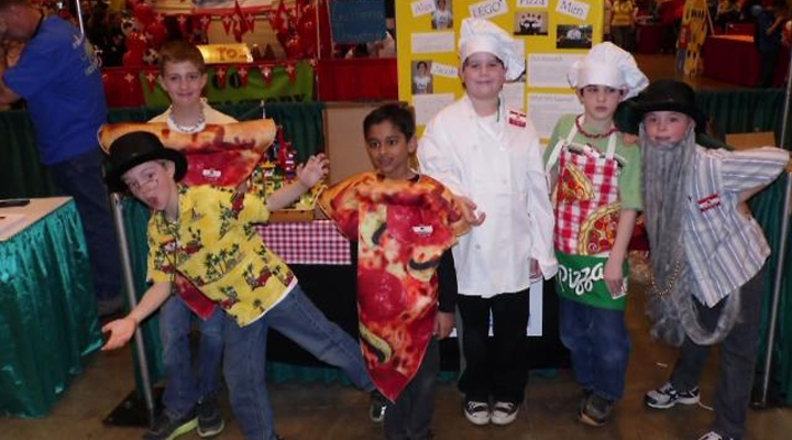 Lego pizza men from Wilson Elementary School in Mequon, WI