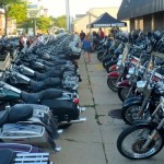 Bikers at Harley Block Fest in Thiensville