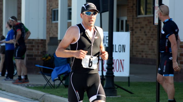 Douglas Boduch finishing the Shoreline Duathlon 2013