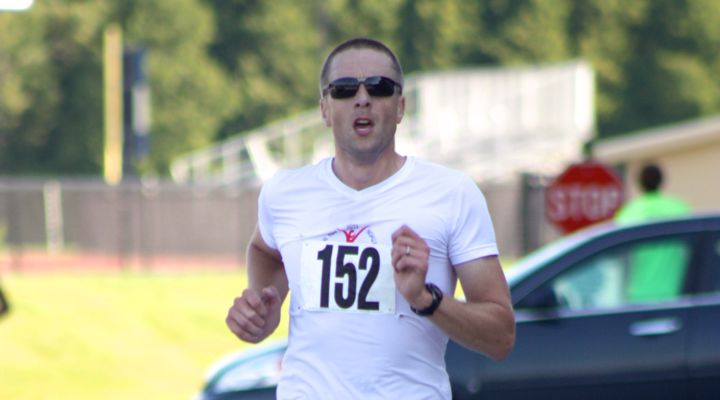 Jamie Schmelzer finishes the Shoreline Duathlon 2013